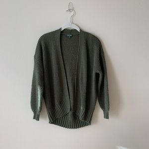Wild Fable Olive Green Bell Sleeve Cardigan